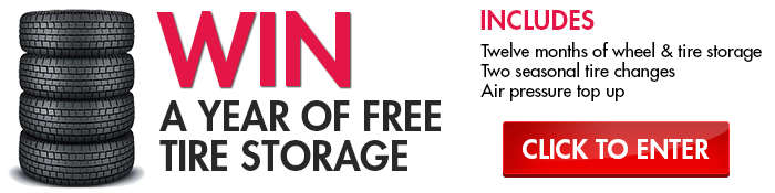 win one year of tire storage